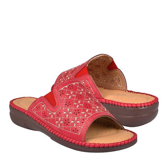 Sandalias Casuales Para Dama Comfort Fit 13110 Rojo