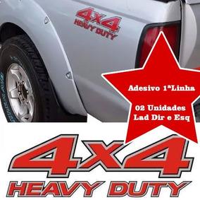 Adesivos Nissan Frontier 4x4 Heavy Duty 02 Unidades Até 2008