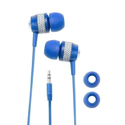 Fone De Ouvido Coby Cve55 Com Fio Azul