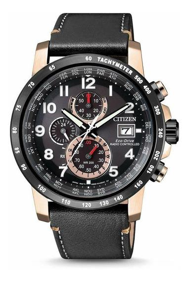 Relógio Masculino Citizen At8126-02e Couro
