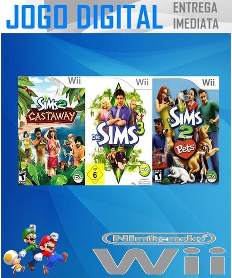 Wii - 3 Super Jogos - The Sims - Digital - Receba Agora !