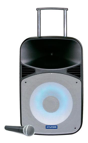 Parlante Y Micrófono Inalámbrico Hyundai 15¿ 100w