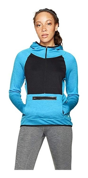 Sudadera Champion Premium Tech Fleece Azul Mujer L