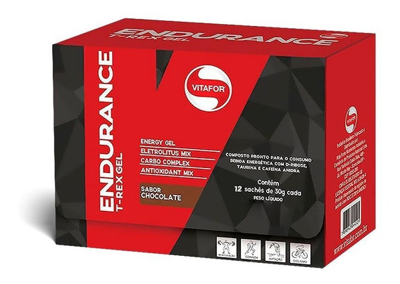 Endurance T-rex Gel (12 Sachês) Vitafor
