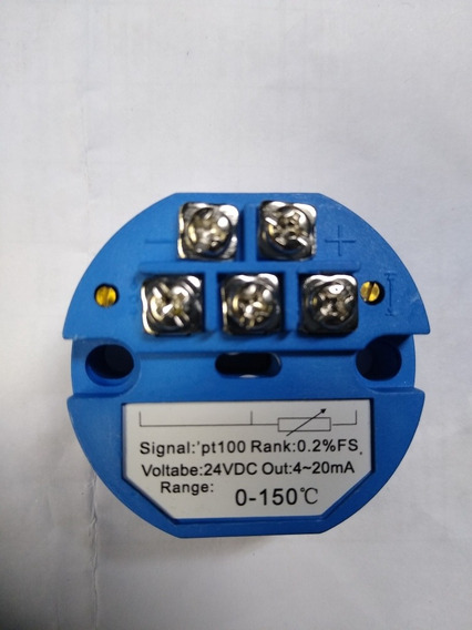 Transmissor De Temperatura Pt100 Faixa 0 A 150 C