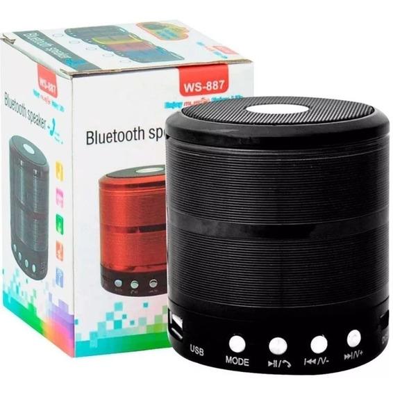 Caixa De Som Mini Pen Drive E Bluetooth Ws-887