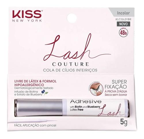 Imagem 1 de 5 de Cola Para Cílios Postiços Incolor Kiss Ny Lash Couture 5g
