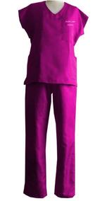 Pijama Médico Cirúrgico Feminino Bordado Kit Com 2 Unidades