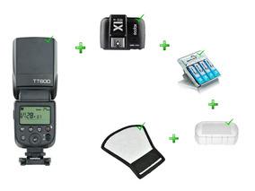 Flash Tt600s + Rebatedor + Difusor + Rádio X1-s + Carregador