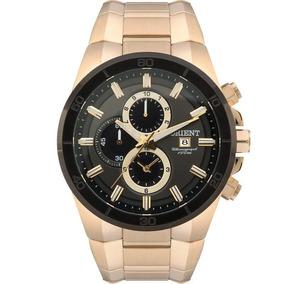 Relógio Orient Masculino Analógico Dourado Mgssc004g1kx