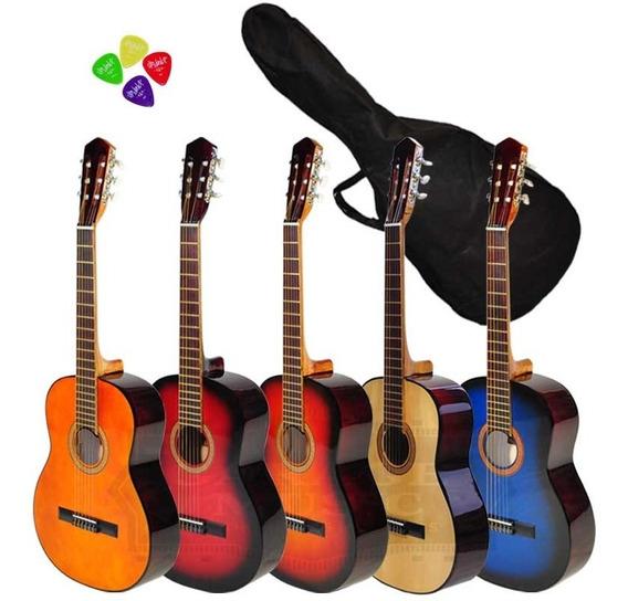 Guitarra Criolla Clásica Estudio Funda Regalo Cd Curso Pua