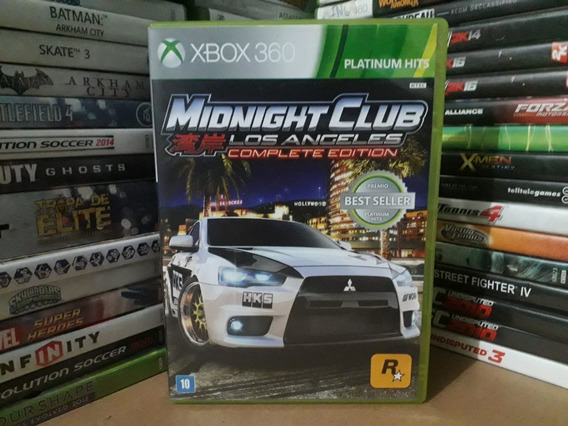 Jogo Midnight Club Los Angeles Xbox 360 Original Mídia