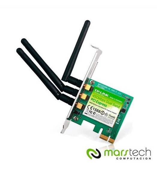 Placa De Red Wifi Tp-link Wdn4800 450mbps 3 Antenas Pci-expr