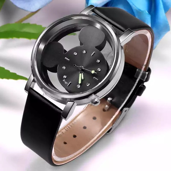 Reloj Mickey Mouse Dama Negro