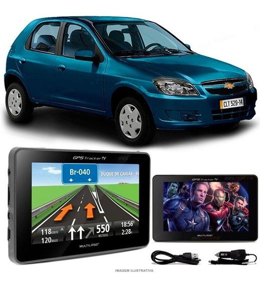 Navegador Gps Automotivo Tela 4.3 Touch Multilaser Gm Celta