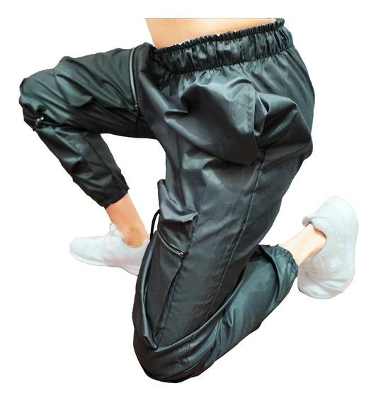 Pantalon Joggers Hip Hop Con Cadena Cargo