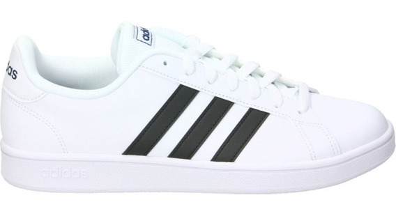 Tenis adidas Grand Court Base Blanco/negro Ee7904