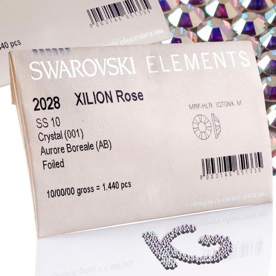 Piedra Cristal Swarovski 100% Original Xilion Rose 2028 Tornasol Ab 1440 Piezas Cartera Envío Gratis