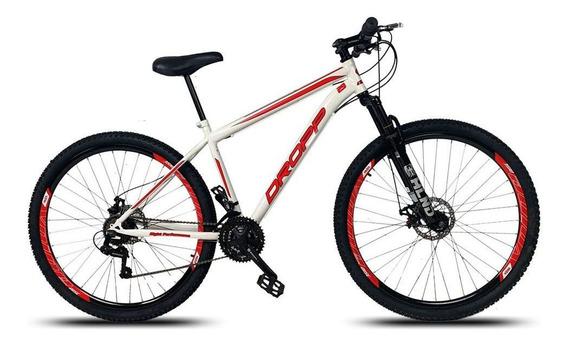 Bicicleta Aro 29 Q17 Freio A Disco 21v Aço Branco Vermelho