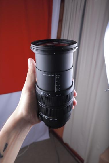 Lente Sigma P/ Canon 18-200mm 1:3.5-6.3 Seminova Perfeita