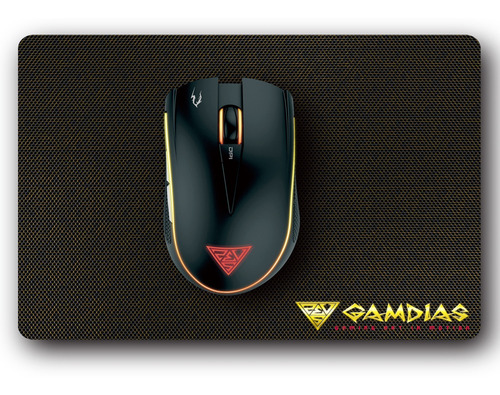 Kit Gamdias Mouse Gamer 3200dpi + Mousepad Design Moderno Nf