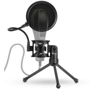 Kit Youtuber Microfone Sf-920 Tripé Pop Filter Shock Mount