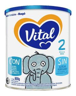Leche de fórmula en polvo Nutricia Bagó Vital 2 en lata de 800g