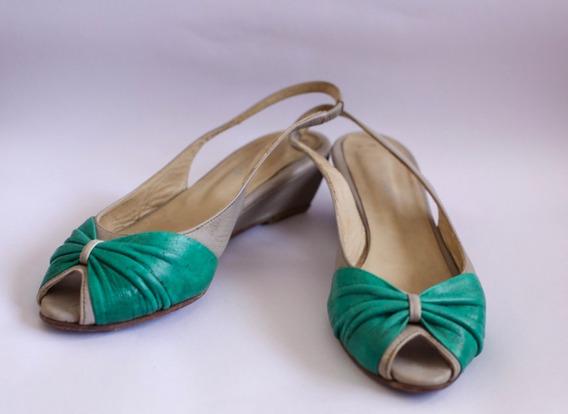 Zapatos Mujer Sandalias Fiesta Taco Bajo Cuero