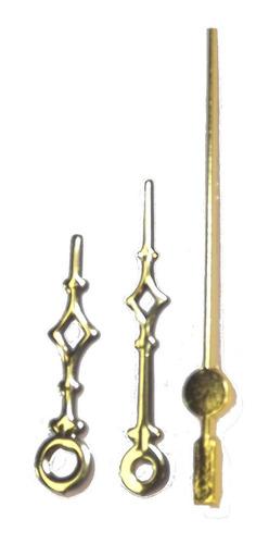 Ponteiros Dourados P/relógio 4,9cm Universal Pequeno - Uniar