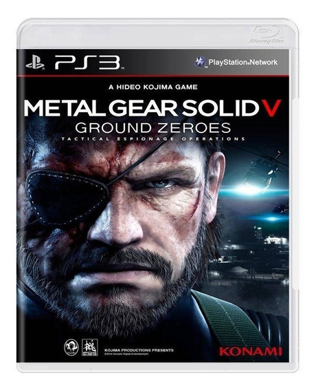 Jogo Ps3 Metal Gear Solid V: Ground Zeroes - Novo - Lacrado