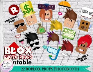 22 Máscaras Props Photobooth Roblox Jpg