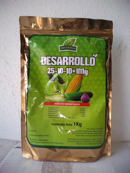 1 Kg Nutriente Para Desarrollo 25-10-10 + 1mg Plantas Flores