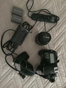 Câmera Fotográfica Nikon D200,2 Bateras Originais,lente Niko