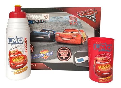 Set Cars Botella + Vaso + Puzzle