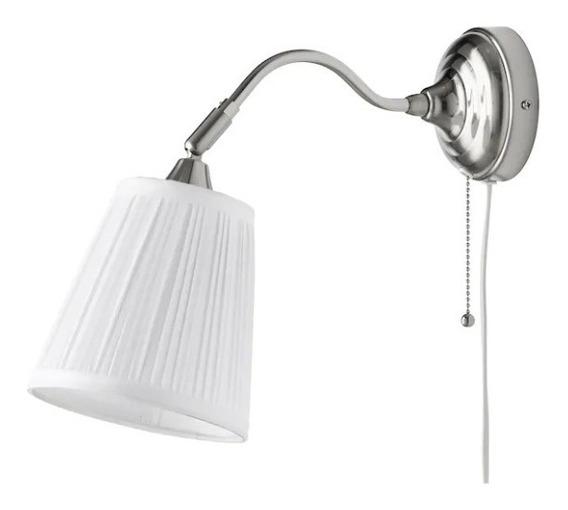 Lámpara De Pared Con Bombilla Led Arstid Ikea Blanca