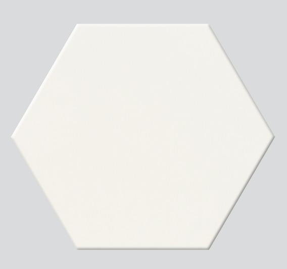 Hexagono Blanco Mate Porcelanato Acuarela 17,5x20 Piso-pared