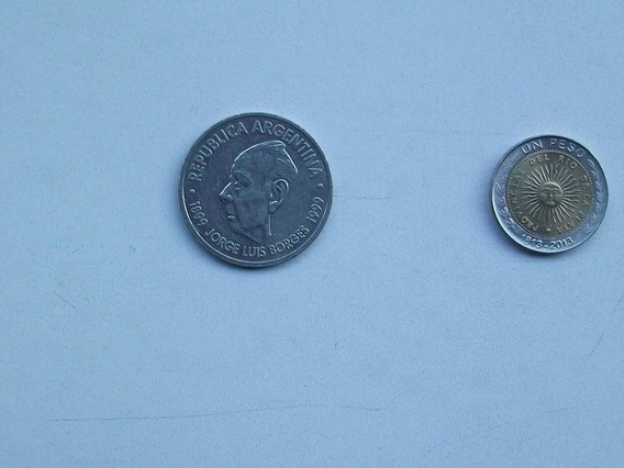 Moneda Argentina Dos Pesos - Jorge Luis Borges - 1899 - 1999