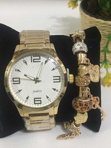 Relógio Dourado Feminino Barato *promoção*