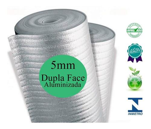 Manta Para Telhado Termica 5mm 130 Metros 2 Faces Aluminio