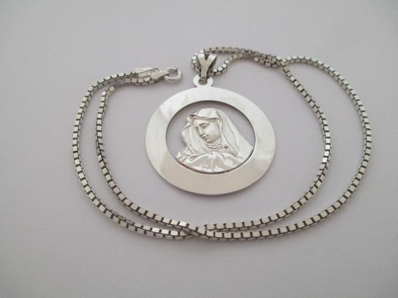 Colar Nossa Senhora - Prata 925 - 11.37 Gr - 40 Cm