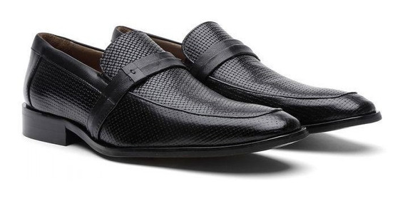 Sapato Social Masculino Couro Trissê 23207 - Frete Grátis