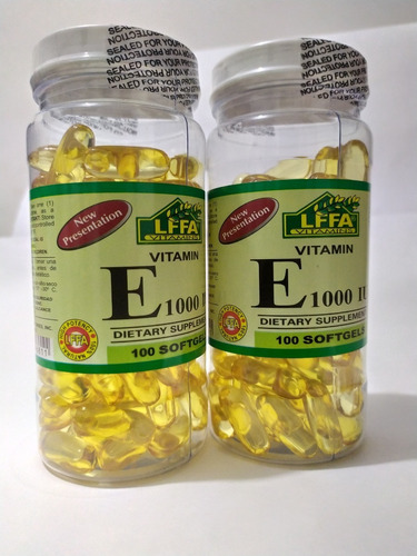 Vitamina  E 1000 Iu Dos Frascos - Unidad a $3