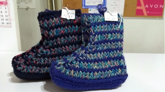 Botinhas De Lã Crochet Tunisiano - Unissex