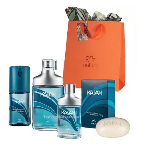 Kit Presente Natura Kaiak Masculino Classico 4produtos Promo