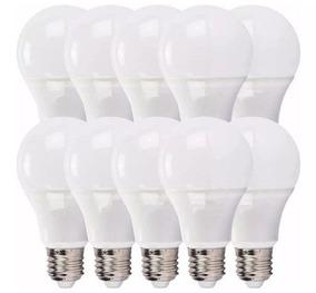 Kit 10 Lampada Bulbo 15w Branco Frio A60 Econômica