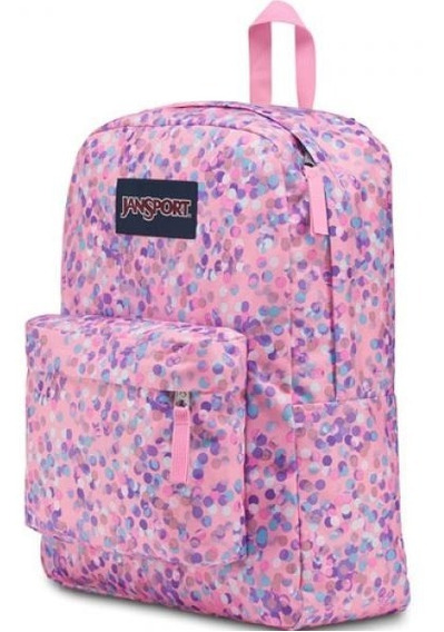 Jansport Mochila Superbreak Pink Splarkle Dot St 25l