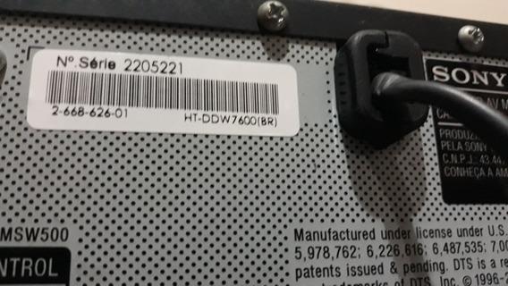 Receiver Sony Ht-ddw 7600