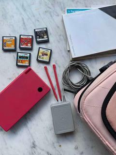 Nintendo Dsi Rosa Con Accesorios Y Juegos