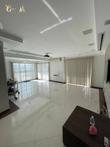 Cobertura Com 4 Dormitórios À Venda, 354 M² Por R$ 2.500.000 - Vila Guilhermina - Praia Grande/sp - Co0045