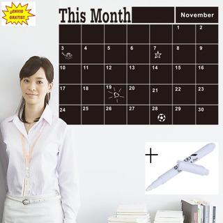 Vinil Pizarrón Organizador Calendario Mensual Oficina+plumón